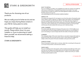 Stark and Greensmith Installation Guide